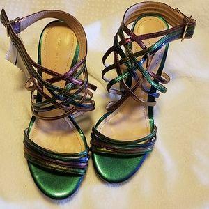Zara Woman Multicolored Wedge Sandals